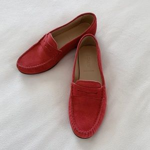 J CREW James Suede Penny Loafers
